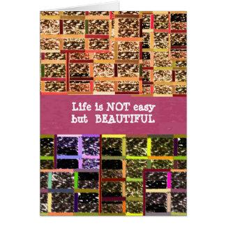 Life is Beautiful :  Editable Text .. DIY Template Greeting Card
