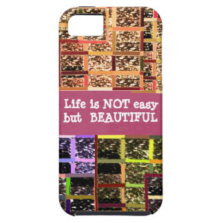 Life is Beautiful :  Editable Text .. DIY Template iPhone SE/5/5s Case