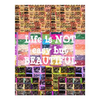 Life is Beautiful :  Editable Text .. DIY Template Letterhead