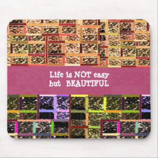 Life is Beautiful :  Editable Text .. DIY Template Mouse Pad