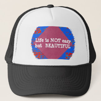 Life is Beautiful :  Editable Text .. DIY Template Trucker Hat