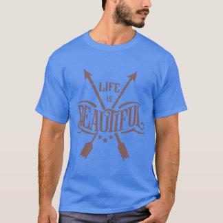 Life is Beautiful Graphic Arrow T-shirt