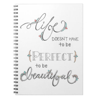 life is beautiful - hand drawn illustration doodle notebook
