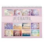 Life Is Beautiful Inspirational | Pastel Photos Calendar