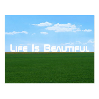 """Life Is Beautiful"" Landscape Postcard"