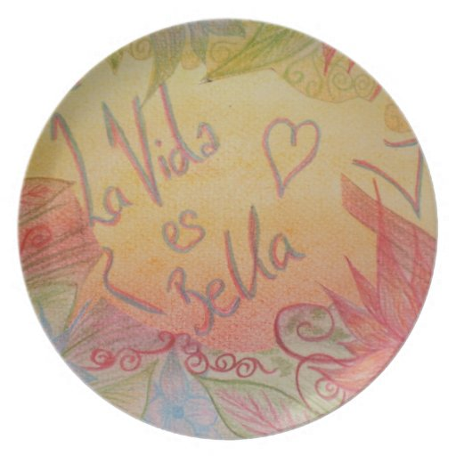 Life is Beautiful Melamine Plate