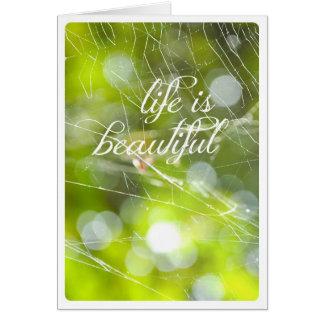 Life is beautiful nature mindfulness card
