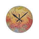 Life is Beautiful Round Wall Clocks