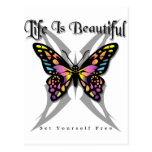 Life Is Beautiful - Set Yourself Free Postcard
