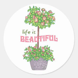 Life Is Beautiful Classic Round Sticker
