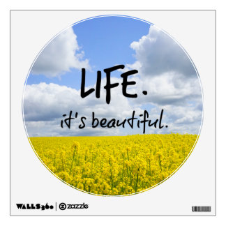 Life is beautiful room sticker