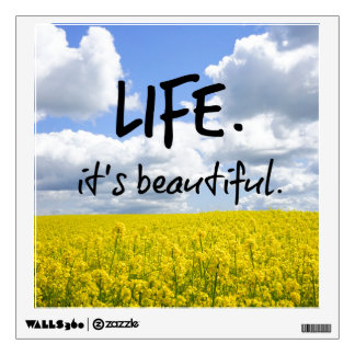 Life is beautiful room graphic