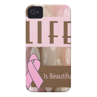 Life Is Beautiiful, Breast Cancer Survivor iPhone 4 Cases