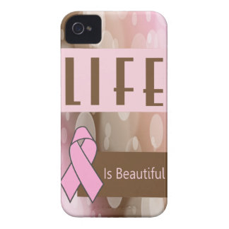 Life Is Beautiiful, Breast Cancer Survivor iPhone 4 Case-Mate Cases
