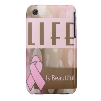 Life Is Beautiiful, Breast Cancer Survivor iPhone 3 Cover