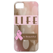 Life Is Beautiiful, Breast Cancer Survivor iPhone SE/5/5s Case