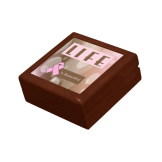 Life Is Beautiiful, Breast Cancer Survivor Jewelry Box