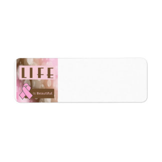 Life Is Beautiiful, Breast Cancer Survivor Label