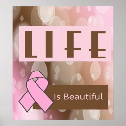 Life Is Beautiiful, Breast Cancer Survivor Print