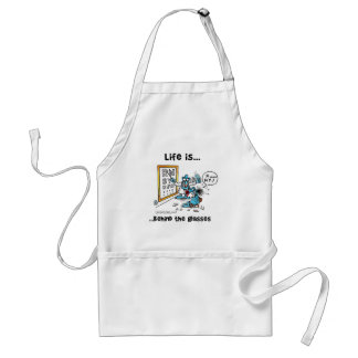 Life is Behind Glasses Adult Apron
