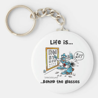 Life is Behind Glasses Keychain
