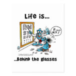 Life is Behind Glasses Postcard
