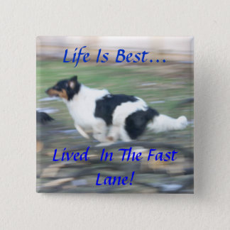 Life Is Best...,Lived  In The Fast Lane Button