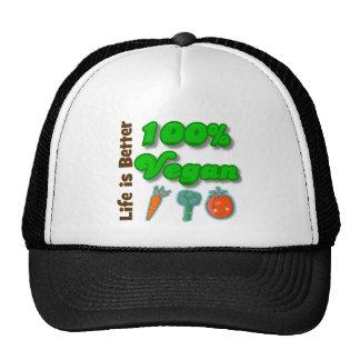 Life is Better 100 Percent Vegan Trucker Hat