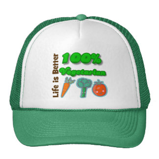 Life is Better 100 Percent Vegetarian Trucker Hat