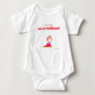 Life is better as a redhead baby bodysuit