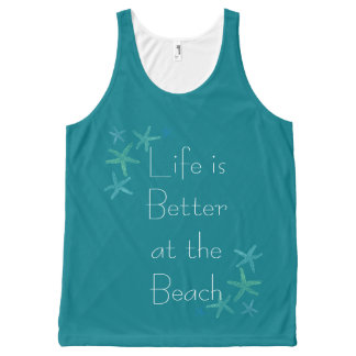Life is Better at the Beach All-Over-Print Tank Top