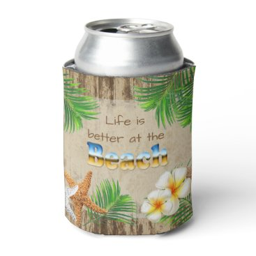 DesignsbyDonnaSiggy Life is Better at the Beach Can Cooler