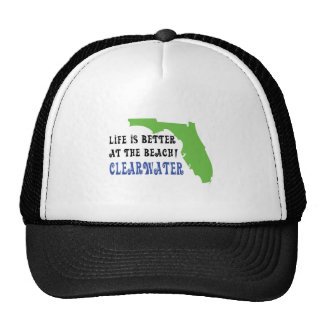life is better at the beach clearwater trucker hat