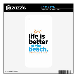 Life Is Better at the Beach. Decal For The iPhone 4S