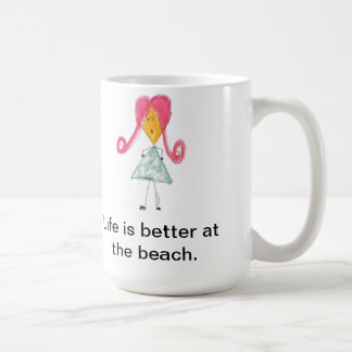 Life is better at the beach coffee mugs