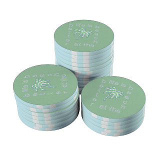 Life is Better at the Beach Poker Chips Set