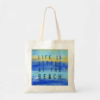 """Life is better at the Beach."" Pretty Cool Tote Bag"