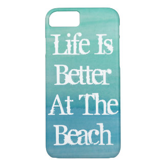 Life is better at the beach vintage iPhone 7 case