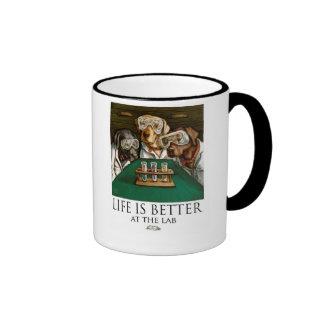 Life Is Better At The Lab - Dog Scientists Ringer Mug