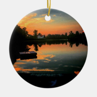 Life is Better at The Lake Ceramic Ornament
