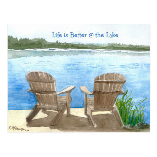 Life is Better at the Lake Postcard