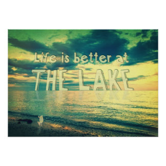 Life Is Better at the Lake Tiny Bird Print