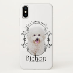 Case-Mate Barely There iPhone X Case with Bichon Frise Phone Cases design