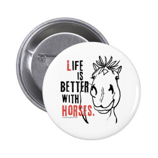 Life is Better Pinback Buttons