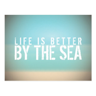 Life is Better by the Sea Beach Landscape Postcard