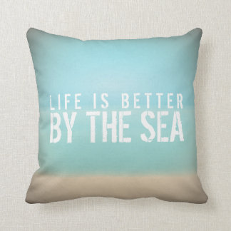 Life is Better by the Sea Beach Square Pillow