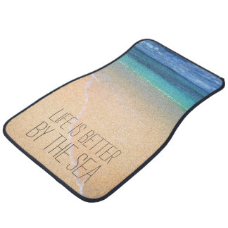 Life is better by the sea Personalized Photo Car Mat