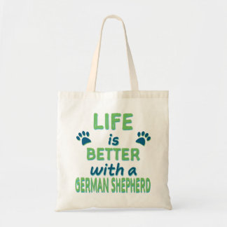 Life is Better German Shepherd Tote Bag