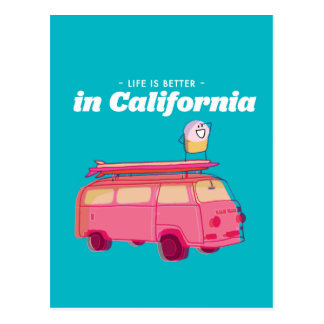 Life is better in California Postcard