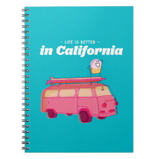 Life is better in California Spiral Notebook